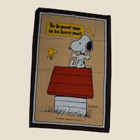 Charlie Brown Comic Snoopy and Woodstock Linen Kitchen Towel