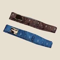 2 Mid-1900's All Silk Carlton Bow-ties
