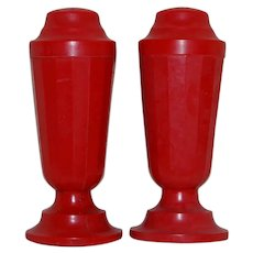 Red Beetleware Classic Salt and Pepper Shakers