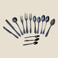 Group of German Doll Spoons Forks and Knives