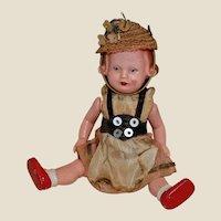 Cute German Doll Jointed hard Plastic
