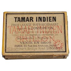 Tamar Indien Fruit Laxative French Advertising Box