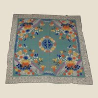 Colorful Japanese Tablecloth Bridge Table Size