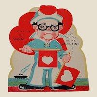 Grumpy or Happy Sailor Mechanical Valentine