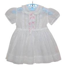 Toddler Girl's Swiss Dot Sheer Summer Vintage Dress