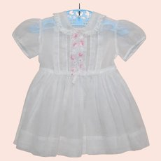 Toddler Girl's Swiss Dot Sheer Summer Vintage Dress