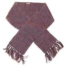 Handmade Two Toned Purple Knit Unisex Scarf
