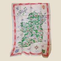 Map of Ireland Vintage Linen Kitchen Towel