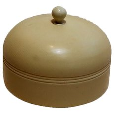 Domed Celluloid Vanity Covered Container Jar