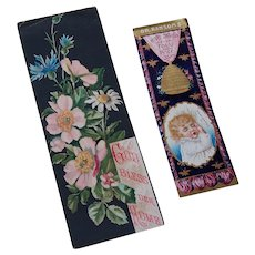 Paper Bookmarks Ransom's Hive Syrup and God Bless Our Home 1886