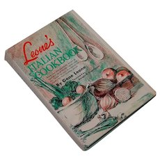 1967 Leone's Italian Cookbook Mama and Gene Leone