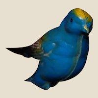 Vintage Plastic Blue Bird Clip or Clothespin