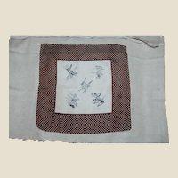 Men's Vintage Golf Themed Silk Blend Handkerchief or Pocket Square