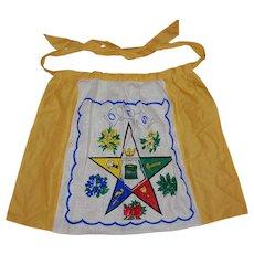 Vintage OES Order of Eastern Star Masonic Kitchen Apron