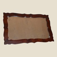 Empire Wall Mirror with Mahogany Burl Veneer