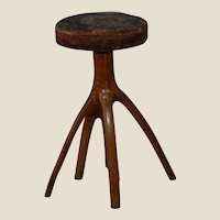 Adirondack Rustic Style Tree Stump Piano Stool 5 Legs!