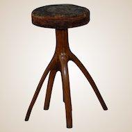 Adirondack Rustic Style Tree Stump Piano Stool 5 Legs!