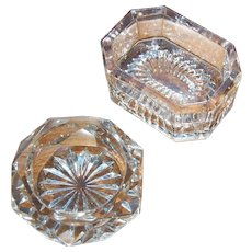 Cut Crystal and Pressed Glass Large Open Salt Cellars
