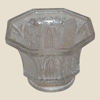 EAPG Cathedral Window and Stars Sandwich Glass Open Sugar