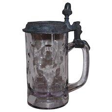 Old Glass and Pewter Stein Brauerei zum Muenchnerkindl
