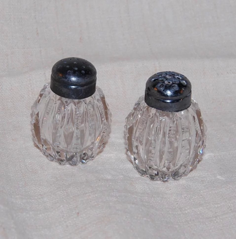 Cut Crystal Salt And Pepper Shakers Starr Hill Antiques Ruby Lane