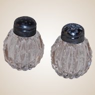 Cut Crystal Salt and Pepper Shakers