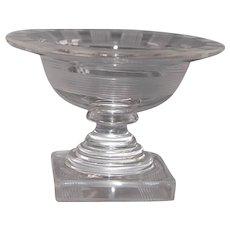 Tiny Crystal Font Pedestal Dish Holy Water Bowl