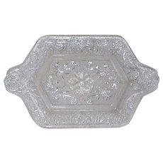 Early Pressed Glass Bon Bon or Card Tray