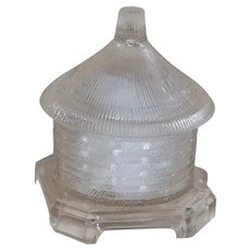 Vallerysthal Beehive Honeypot Pressed Clear Glass