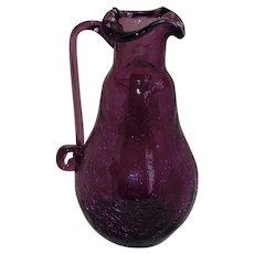 Pilgrim Crackle Glass Ewer in Purple