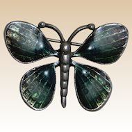 Enamel on Pewter Green Butterfly