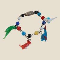 Japan Glass Beads and Birds Children's Braclelet