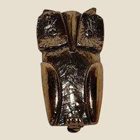 Golden Owl Pin or Brooch