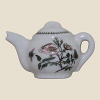 Vintage Portmeirion Teapot Pin or Brooch Botanical
