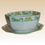 Swedish Royal Gustafsberg Primula Serving Bowl and Underplate