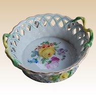Carl Thieme Dresden Flower Small Reticulated Basket
