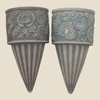 Redwing Union Stoneware Brush Cemetery Urns