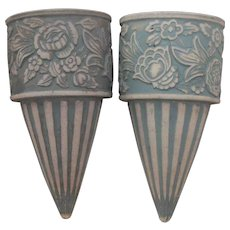 Redwing Union Stoneware Brush Cemetery Urns