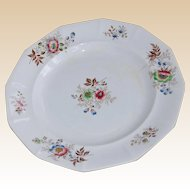Antique Earthenware Feather Plate F&Co, Floral