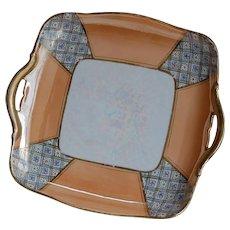 Noritake Luster Pastry Serving Plate w/ Handles