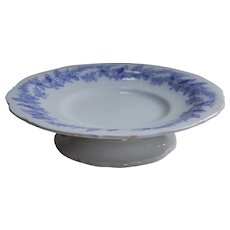 LP & Co Early Ironstone Cake Stand with Purple Decoration
