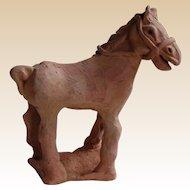 Primitive Terracotta Horse Figure