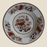 Transferware Wedgwood Soup Plate Bowl Bullfinch Pattern