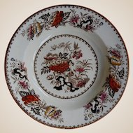 Transferware Wedgwood Soup Plate Bowl Bullfinch Pattern