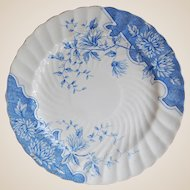 Burgess & Leigh Blue Transferware Plate Burslem England