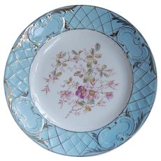Antique Porcelain hand Painted Dinner Plate