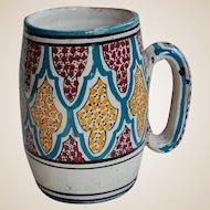 Antique Painted Terracotta Tankard