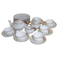 Meito Japan Child's Gold Band Tea Set for 6
