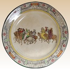 "Chaucer's Canterbury Pilgrims Royal Doulton England 10 1/2"" Plate"