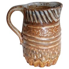 Modern Rustic Stoneware Creamer Pitcher Artist Made